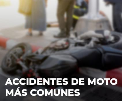 Los accidentes de moto más comunes