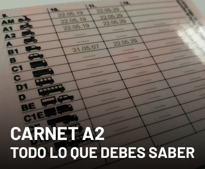 Carnet de moto A2. Todo lo que debes saber