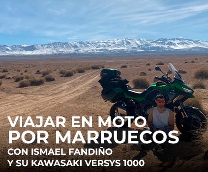 Viajar en moto pot Marruecos con Ismael Fandiño y su Kawasaki Versys 1000